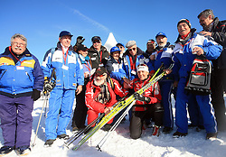 Slovenian cross-country skier Petra Majdic with her fans at 10th OPA - Continental Cup 2008-2009, on January 17, 2009, in Rogla, Slovenia.  (Photo by Vid Ponikvar / Sportida)