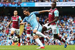 Nolito of Manchester City challenges Michail Antonio of West Ham United  - Mandatory by-line: Matt McNulty/JMP - 28/08/2016 - FOOTBALL - Etihad Stadium - Manchester, England - Manchester City v West Ham United - Premier League