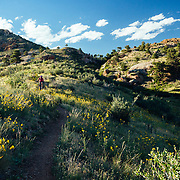 Heather Goodrich rides the Middle Kingdom Trail in Curt Gowdy State Park in Eastern Wyoming.