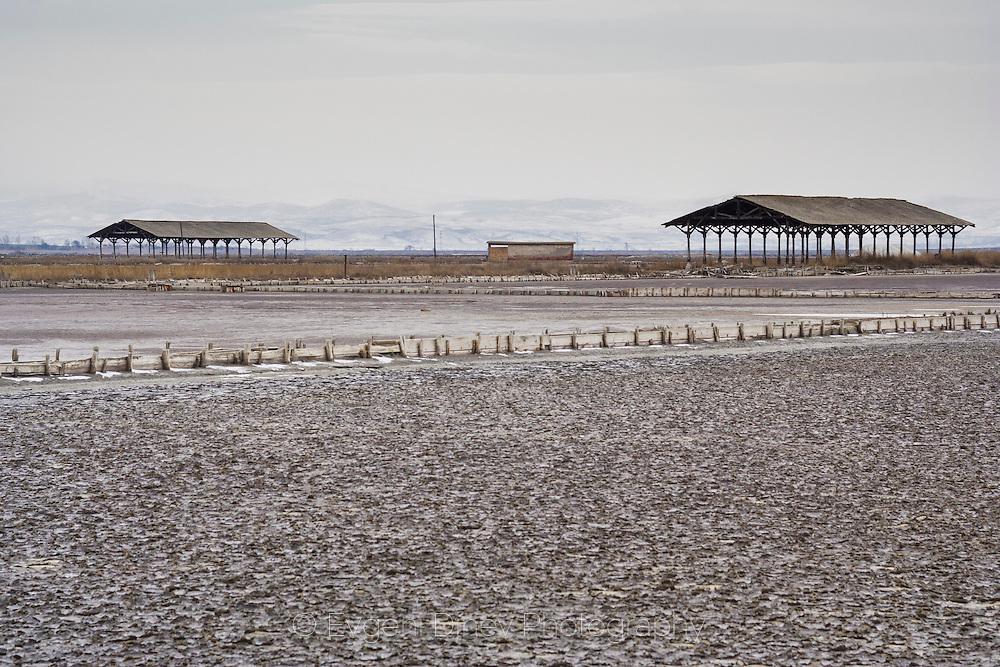 Atanasovsko lake in winter
