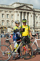 Riders in the FreeCycle event outside Buckingham Palace<br /> <br /> Prudential RideLondon, the world's greatest festival of cycling, involving 70,000+ cyclists – from Olympic champions to a free family fun ride - riding in five events over closed roads in London and Surrey over the weekend of 9th and 10th August. <br /> <br /> Photo: Dillon Bryden for Prudential RideLondon<br /> <br /> See www.PrudentialRideLondon.co.uk for more.<br /> <br /> For further information: Penny Dain 07799 170433<br /> pennyd@ridelondon.co.uk