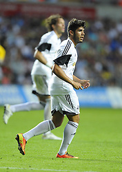 "Swansea City's Alejandro Pozuelo  - Photo mandatory by-line: Joe Meredith/JMP - Tel: Mobile: 07966 386802 22/08/2013 - SPORT - FOOTBALL - Liberty Stadium - Swansea -  Swansea City V Petrolul Ploiesti - Europa League Play-Off EDITORIAL USE ONLY. No use with unauthorised audio, video, data, fixture lists, club/league logos or ""live"" services. Online in-match use limited to 45 images, no video emulation. No use in betting, games or single club/league/player publications"
