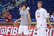DESCRIZIONE: Berlino EuroBasket 2015 - <br /> Allenamento<br /> GIOCATORE: Amedeo Della Valle Achille Polonara<br /> CATEGORIA: Pregame<br /> SQUADRA: Italia<br /> EVENTO: EuroBasket 2015 <br /> GARA: Berlino EuroBasket 2015 - Allenamento<br /> DATA: 09-09-2015 <br /> SPORT: Pallacanestro <br /> AUTORE: Agenzia Ciamillo-Castoria/I.Mancini <br /> GALLERIA: FIP Nazionali 2015 FOTONOTIZIA: Berlino EuroBasket 2015 - Allenamento