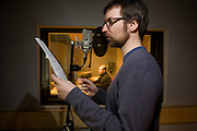 Associate Producer Mark Southerns records audio in an in-house studio at Creative Assembly, the PC gaming brand Total War 's Horsham offices in West Sussex, England. Up to 65 designers, artists and animators have worked on Empire: Total War (about the formation of the United States - the road to independence) for 3 1/2 years. Historical accuracy is such that research into weaponry, ships and events is as realistic as possible with the employment of historians with PHDs and degrees. (Note to editors: High-resolution screen grabs of Empire are in the possession of writer Nina Ernst).