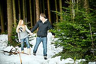 Young Couple, Romance, Bonding, Christmas Tree, Choosing,