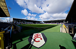 LONDON, ENGLAND - Sunday, March 17, 2019: A general view of Fulham's Craven Cottage stadium before the FA Premier League match between Fulham FC and Liverpool FC. (Pic by David Rawcliffe/Propaganda)