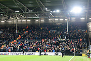Middlesbrough fans during the EFL Sky Bet Championship match between Fulham and Middlesbrough at Craven Cottage, London, England on 17 January 2020.