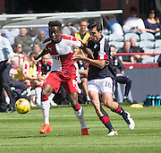 Rangers' Joe Dodoo and Dundee's Julen Etxabeguren - Dundee v Rangers, Ladbrokes Scottish Premiership at Dens Park<br /> <br />  - © David Young - www.davidyoungphoto.co.uk - email: davidyoungphoto@gmail.com