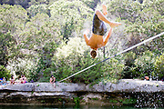 Dan throws multiple backflips with ease on a warm Texas afternoon.<br />
