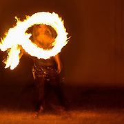 Moksha performs a fire dance at Art All Night DC.
