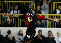 Photo: Tom Dulat.<br /> <br /> Tottenham Hotspur v Blackburn Rovers. The FA Barclays Premiership. 28/10/2007.<br /> <br /> Benni McCarthy of Blackburn Rovers celebrates his goal. 1-1
