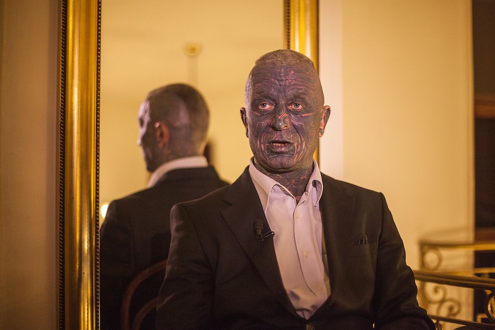 """Portrait of Prof. Vladimír Franz at the Prague National Opera during an interview during the final rehearsal of his new opera """"War with the Newts"""" (by Karel Capek). Franz is a prominent Czech composer and painter, stage music author and also a registered candidate in the 2013 Czech presidential election."""