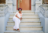 Cuban singer in the East Village where she first lived after moving to New York from Cuba in the 90's<br /> Cover Story for Air Berlin Inflight magazine about Cuban musicians in New York and their parents, September 2016