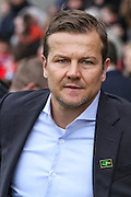 Swindon Town manager Mark Cooper during the Sky Bet League 1 match between Swindon Town and Milton Keynes Dons at the County Ground, Swindon, England on 4 April 2015. Photo by Shane Healey.