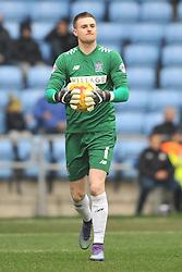 IAN LAWLOR GOALKEEPER BURY FC, Coventry City v Bury FC, Sky Bet League One, Ricoh Stadium, Saturday 13th Febuary 2016 Score 6-0. Photo:Mike Capps
