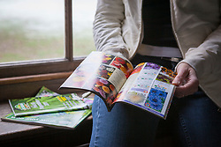 Browsing seed catalogues indoors