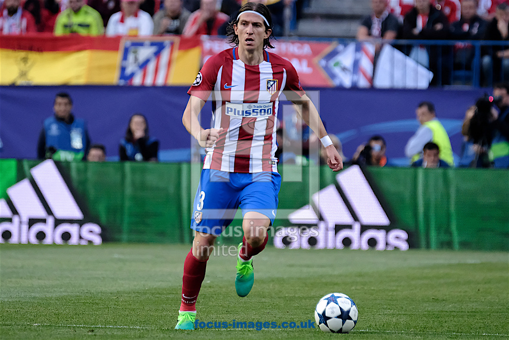 Filipe Luis of Atletico Madrid during the second leg of the UEFA Champions League semi-final at Vicente Calderon Stadium, Madrid<br /> Picture by Kristian Kane/Focus Images Ltd +44 7814 482222<br /> 10/05/2017