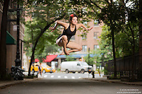 Streets of New York City Dance As Art Photography Project in West Village featuring dancer, Lydia Jackson