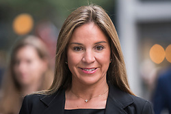 © Licensed to London News Pictures. 16/10/2017. London, UK. NATHALIE DAURIAC-STOEBE arrives at High Court in London where she claims wrongful dismissal by Phones 4u billionaire founder John Caudwell, and that she was cheated out of shares. Nathalie Dauriac-Stoebe, Tracy Gehlan and Suzette Burger all claim they were unfairly treated while working for Mr Caudwell . Photo credit: Ben Cawthra/LNP