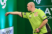 Michael van Gerwen during the PDC Darts Players Championship at  at Butlins Minehead, Minehead, United Kingdom on 26 November 2017. Photo by Shane Healey.