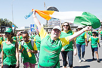 22/11/2015  repro fee. A group of  irish people travelled with Gorta-Self Help Africa travelled to the capital of Ethiopia Addis Ababa for the great Ethiopian run. In temperatures in the mid 30 degree heat and 40,000 people and a city at 7,500 feet above sea level, it's no mean feat. Sandra McCormack from Cavan togged out for the nation   Photo:Andrew Downes.