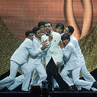 SHEFFIELD, UNITED KINGDOM - 9th June 2007: Bollywood actor Boman Irani as agent 007 at  International Indian Film Academy Awards (IIFAs) at the Sheffield Hallam Arena on June 9, 2007 in Sheffield, England.