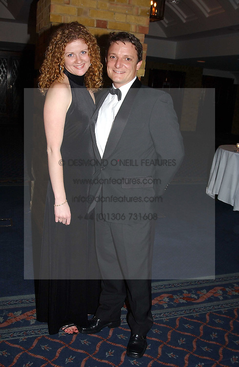 Writer SUSAN FLETCHER and MR GUY ESSEX at the 2004 Whitbread Book Awards held at The Brewery, Chiswell Street, London EC1 on 25th January 2005.<br />