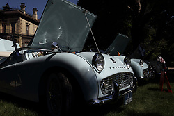 2018 Champagne British Car Festival held on Clover Lawn at David Davis Mansion in Bloomington IL<br /> <br /> Triumph Row