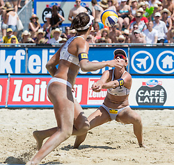 02.08.2014, Strandbad, Klagenfurt, AUT, A1 Beachvolleyball Grand Slam 2014, im Bild Barbara SEIXAS (BRA), Agatha BEDNARCZUK (BRA) im kleinen Finale // during the A1 Beachvolleyball Grand Slam at the Strandbad Klagenfurt, Austria on 2014/08/02. EXPA Pictures © 2014, EXPA Pictures © 2014, PhotoCredit: EXPA/ Mag. Gert Steinthaler im kleinen Finale // during the A1 Beachvolleyball Grand Slam at the Strandbad Klagenfurt, Austria on 2014/08/02. EXPA Pictures © 2014, EXPA Pictures © 2014, PhotoCredit: EXPA/ Mag. Gert Steinthaler