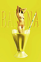 Do you like banana milkshakes? They can be a perfect treat for someone who loves milkshakes, but would perhaps prefer to enjoy something a little different from chocolate, vanilla, or strawberry. If you consider yourself to be a person like that, then you are going to love this compelling piece of fine art. The piece combines the nude female form, captured in a state of perfect enjoyment, with a glass of banana milkshake. One of the best things about this particular piece is the fact that it is open to a wide range of interpretations. What do you think it's about?