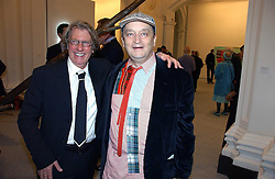 Left to right, Art collector FRANK COHEN and NORMAN ROSENTHAL at a reception o celebrate the opening of 'USA Today' - an exhibition of work from The Saatchi Gallery held at The Royal Academy of Arts, Burlington Gardens, London on 5th September 2006.<br />