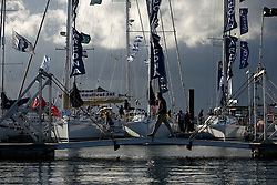 UK ENGLAND SOUTHAMPTON 17SEP11 - Flags and masts at the Southampton Boatshow...The Southampton Boat Show is the biggest water based boat show in Europe. It has been held every September since 1969 in Mayflower Park, Southampton, England.....jre/Photo by Jiri Rezac....© Jiri Rezac 2011