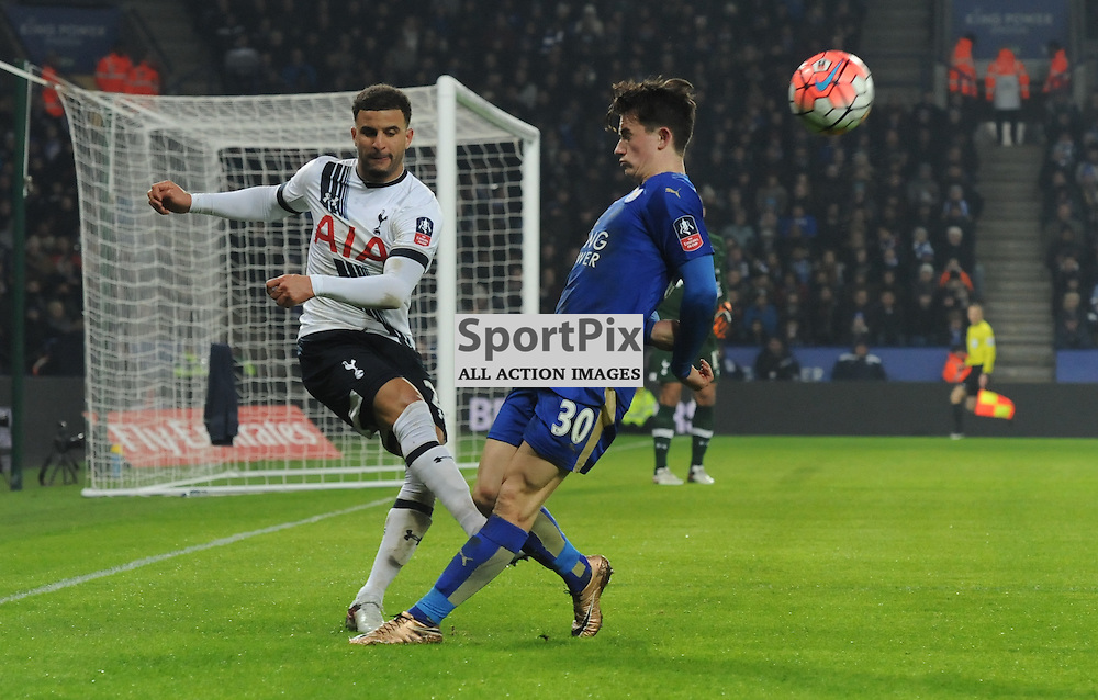 Kyle Walker clears under pressure from Ben Chilwell (c) Simon Kimber | SportPix.org.uk