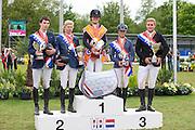 Podium Nederlands Kampioenschap Junioren / Young Riders Lisa Nooren zowel bij de Junioren als Young Riders Nederlands Kampioen<br /> CH Mierlo 2014<br /> © DigiShots