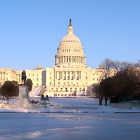 U.S. Capitol Building in Washington, DC on February14, 2010. Image available as HDR photograph @55mb.