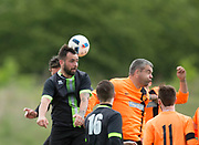 Stobswell Athletic (black and green) v Sidlaw Athletic (tangerine) in the Dundee Saturday Morning Football League at University Grounds, Riverside, Dundee, Photo: David Young<br /> <br />  - &copy; David Young - www.davidyoungphoto.co.uk - email: davidyoungphoto@gmail.com