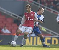 Photo: Olly Greenwood.<br />Arsenal v Blackburn Rovers. The FA Cup. 17/02/2007. Arsenal's Mathieu Flamini and Blackburn's David Bentley
