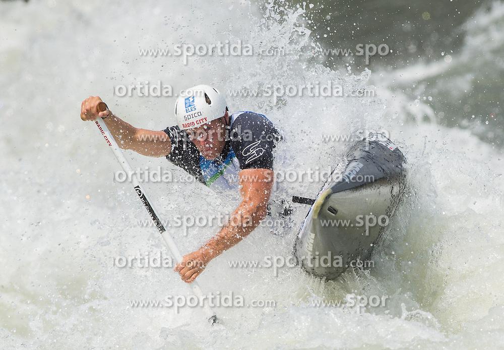 Benjamin Savsek of Slovenia competes in Semifinal of Canoe Single C1 Men during ICF Canoe Slalom World Cup Tacen 2014 on June 14, 2014 in Ljubljana, Slovenia. Photo by Vid Ponikvar / Sportida