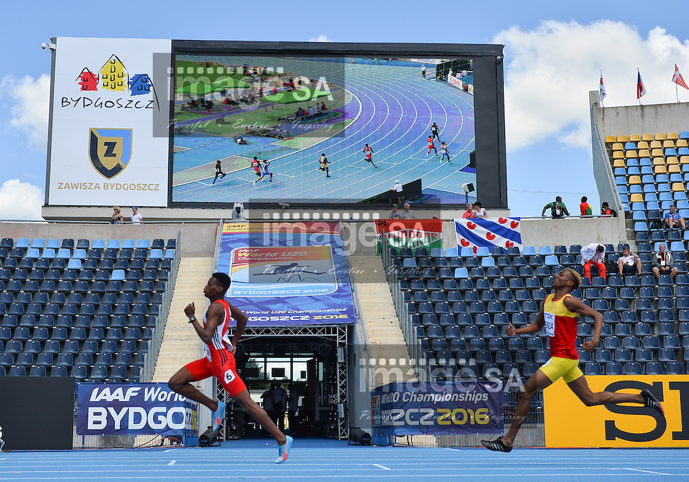 BYDGOSZCZ, POLAND - JULY 20: Jacob Sinclair of Trinidad and Tobago runs the final bend in the heats of the mens 400m during the morning session on day 2 of the IAAF World Junior Championships at Zawisza Stadium on July 20, 2016 in Bydgoszcz, Poland. (Photo by Roger Sedres/Gallo Images)