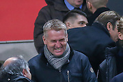 Brentford Manager Dean Smith  during the Sky Bet Championship match between Bolton Wanderers and Brentford at the Macron Stadium, Bolton, England on 30 November 2015. Photo by Simon Davies.