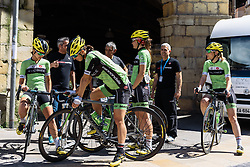 Cylance Pro Cycling ready to sign in - Emakumeen Saria - Durango-Durango 2016. A 113km road race starting and finishing in Durango, Spain on 12th April 2016.