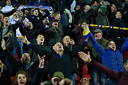 January 26, 2019 - Rotherham, England, United Kingdom - Leeds fans celebrate winning the Sky Bet Championship match between Rotherham United and Leeds United at the New York Stadium, Rotherham on Saturday 26th January 2019. (Credit Image: © Mark Fletcher/NurPhoto via ZUMA Press)