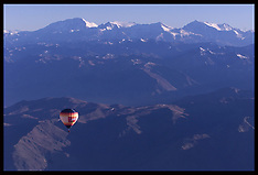 Hot air ballooning over The Andes