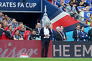 Manchester United Manager Jose Mourinho makes notes during the FA Cup Final between Chelsea and Manchester United at Wembley Stadium, London, England on 19 May 2018. Picture by Phil Duncan.