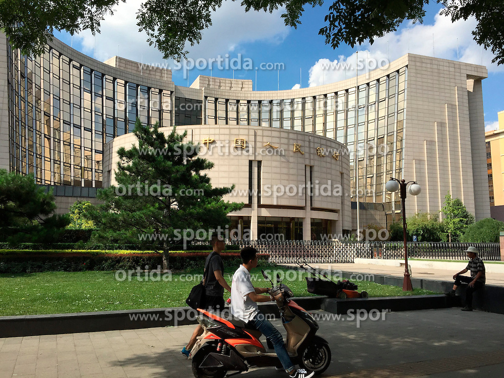 Photo taken on June 13, 2015 shows the People's Bank of China in Beijing, capital of China. EXPA Pictures &copy; 2015, PhotoCredit: EXPA/ Photoshot/ Chen Haitong<br /> <br /> *****ATTENTION - for AUT, SLO, CRO, SRB, BIH, MAZ only*****