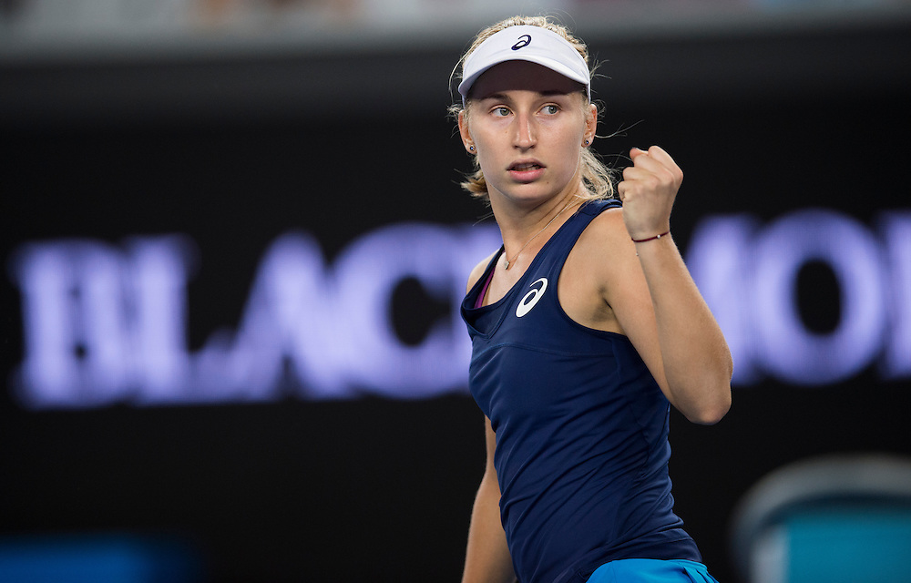 Daria Gavrilova of Australia on day two of the 2017 Australian Open at Melbourne Park on January 17, 2017 in Melbourne, Australia.<br /> (Ben Solomon/Tennis Australia)