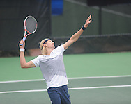 Ole Miss' Nik Scholtz vs. Memphis in NCAA tennis in Oxford, Miss. on Wednesday, February 27, 2013.