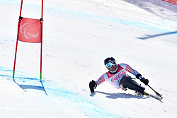 WALKER Tyler LW12-1 USA competing in ParaSkiAlpin, Para Alpine Skiing, Super G at PyeongChang2018 Winter Paralympic Games, South Korea.