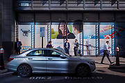 A parked Mercedes on a Disabled bay in the City of London, the capital's financial heart (aka The Square Mile), on 26th September 2018, in London, England.