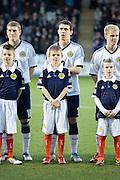 Scotland's Ryan Jack and mascot - Scotland v Holland - UEFA U21 European Championship qualifier at St Mirren Park..© David Young - .5 Foundry Place - .Monifieth - .Angus - .DD5 4BB - .Tel: 07765 252616 - .email: davidyoungphoto@gmail.com.web: www.davidyoungphoto.co.uk